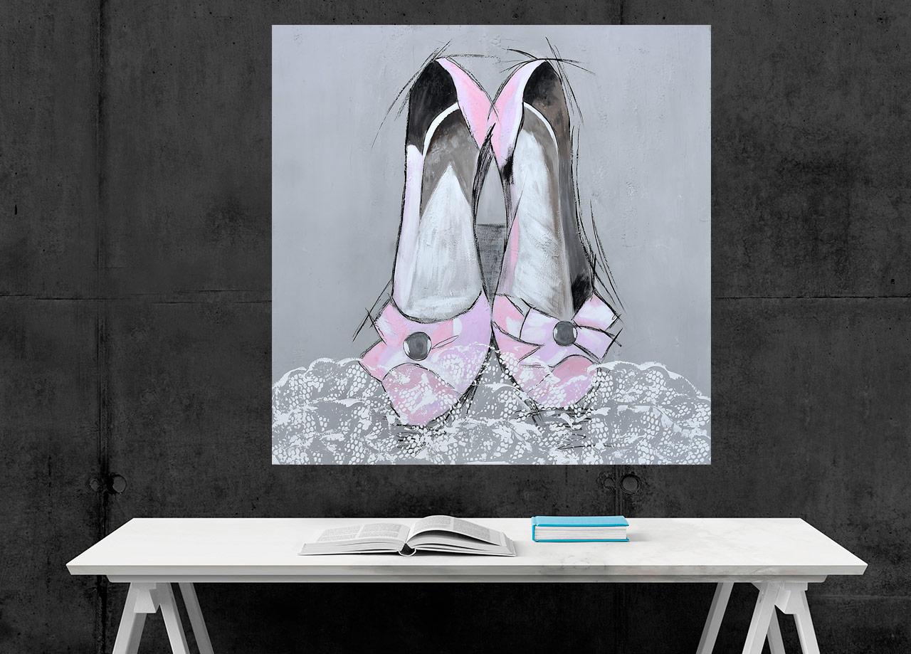 Quadro Sapatos Rosa