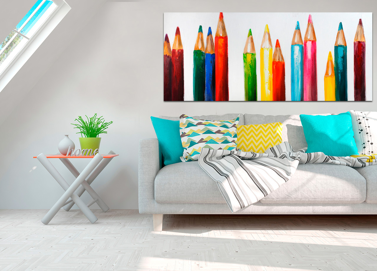 Quadro Lápis de Colorir