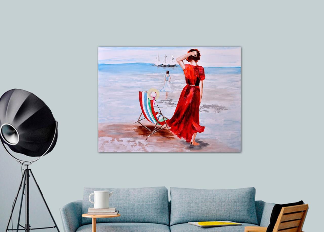 Quadro Garota na praia
