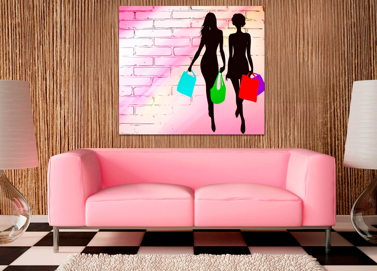 Quadro Raparigas no Shopping