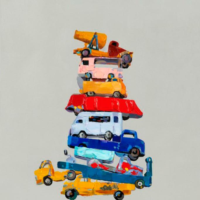 Quadro Pilha de Camiões