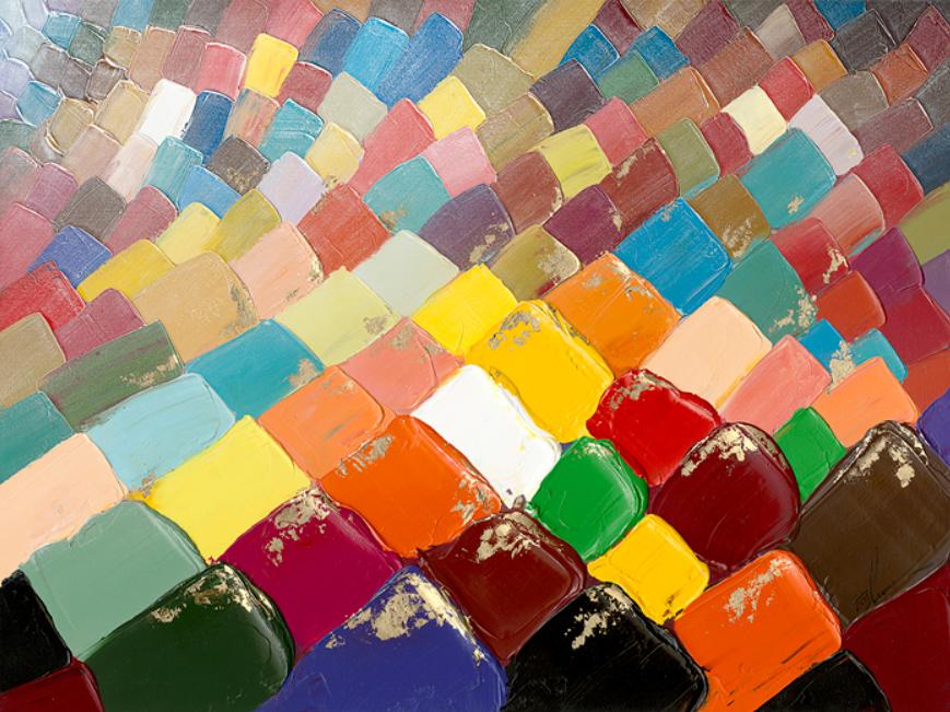 Quadro Tecidos Coloridos