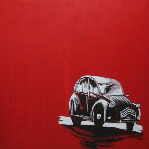 Quadro Fundo vermelho de carro