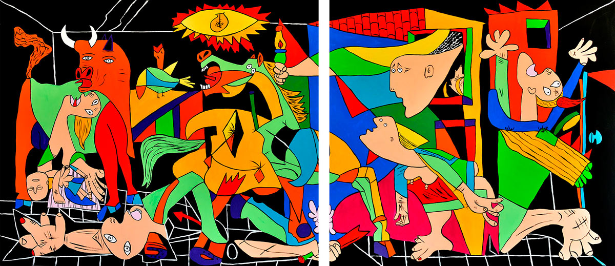 Pintura de Díptico Guernica