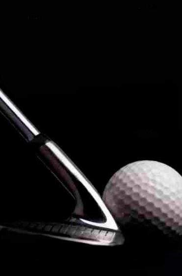 Quadro Taco e Bola de Golfe
