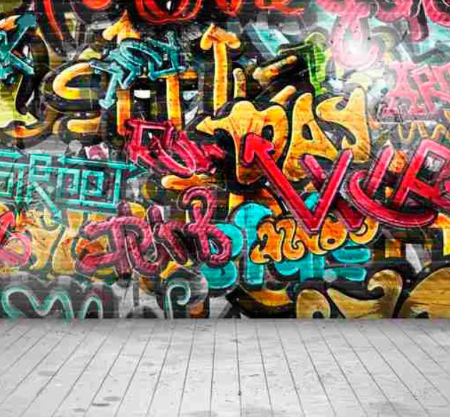 Quadro Graffiti Colorido