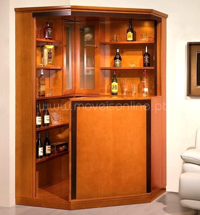 Bar de canto max ao melhor pre o s em moveis online for Bar de madera para sala