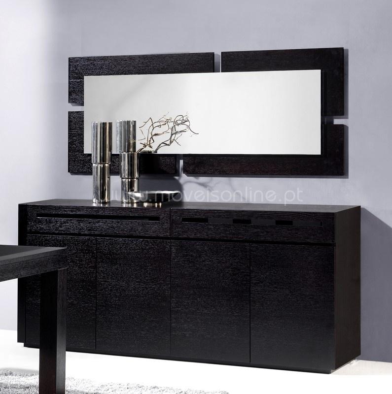 Aparador c espelho lara ao melhor pre o s em moveis online for Espejos para aparadores