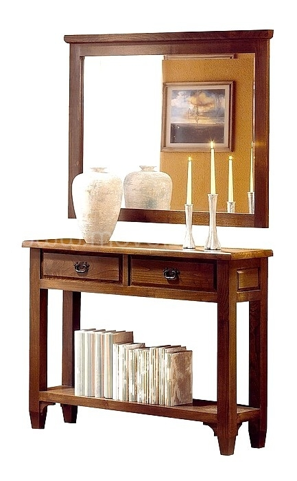 Consola  Rustica com espelho