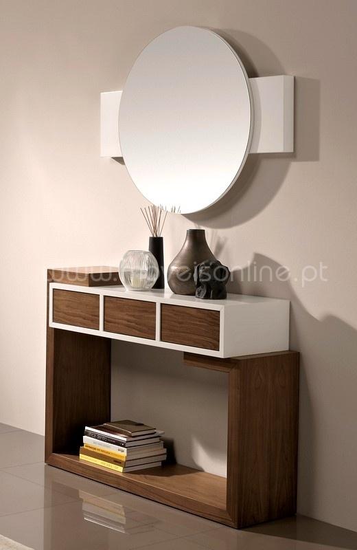 Consola e Espelho Round