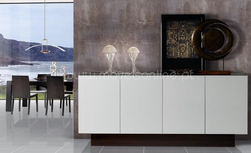 Sala De Jantar Com Aparador Branco ~ Compre Sala de Jantar Elegance ao melhor preço só em Moveis Online