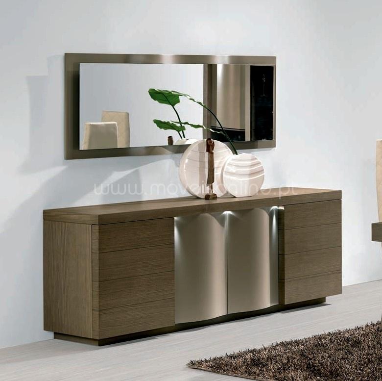 aparador com espelho micaia ao melhor pre o s em moveis online. Black Bedroom Furniture Sets. Home Design Ideas