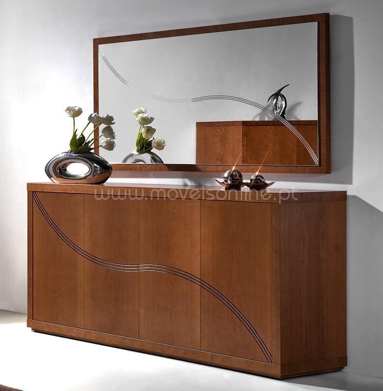 Compre aparador com espelho ibiza ao melhor pre o s em for Miroir buffet