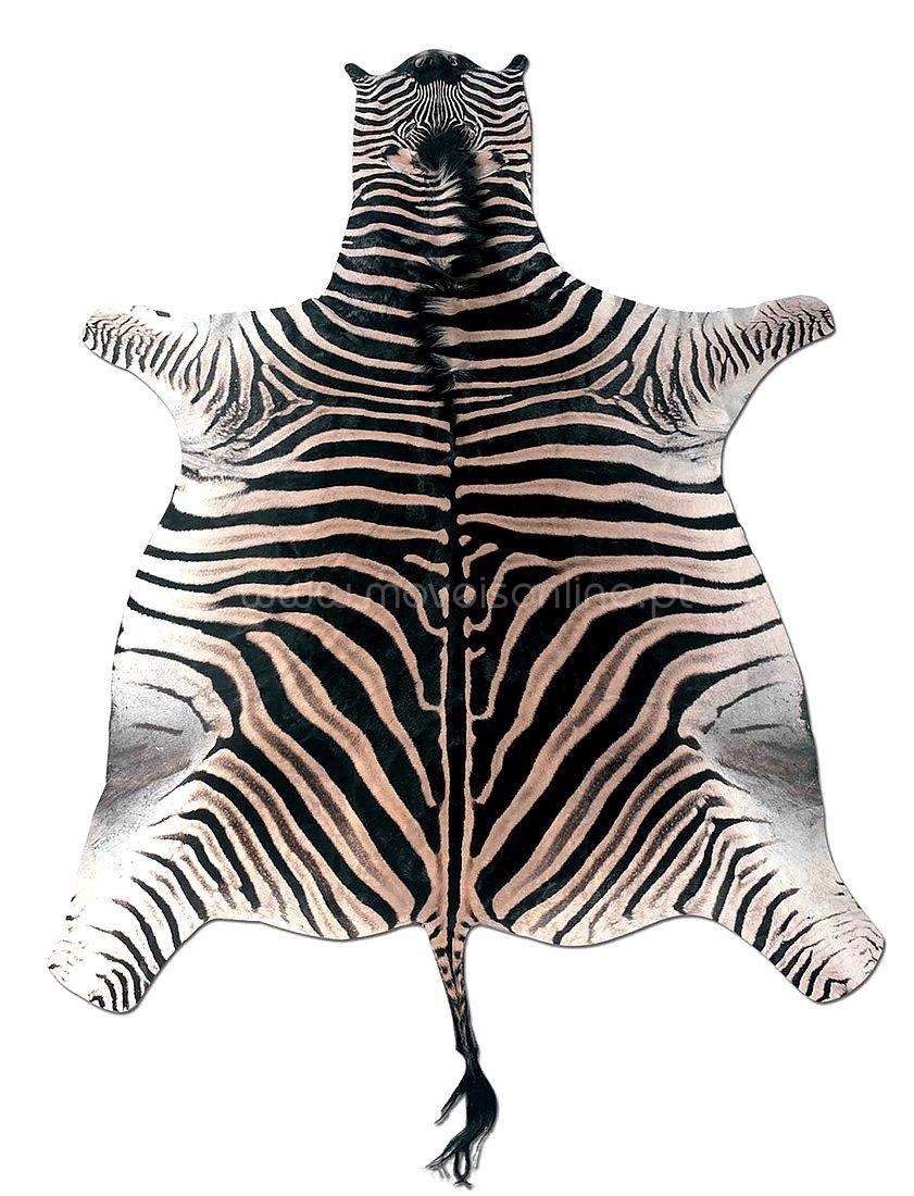 Compre tapete pele de zebra ao melhor pre o s em moveis for Zebra tapete