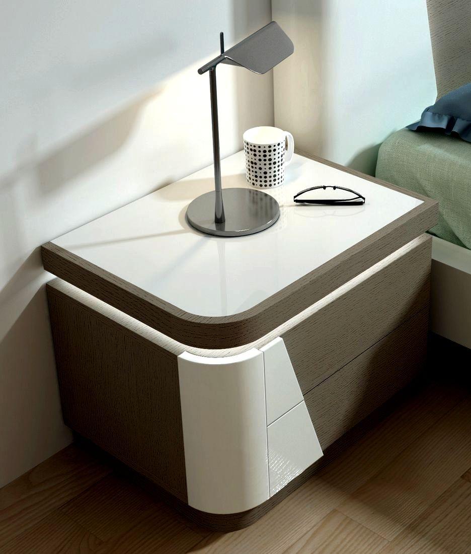 Mesa de Cabeceira com LED Viana