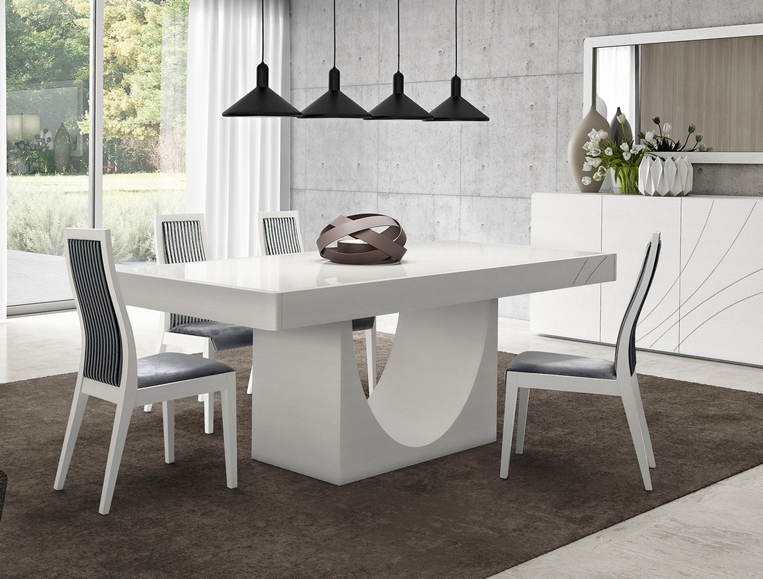 Image of: Mesa De Jantar Extensivel Curve