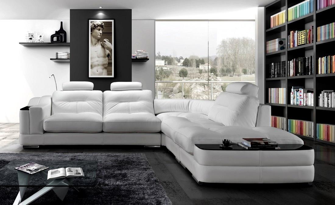 Sofa Canto Bari com Mesa Apoio