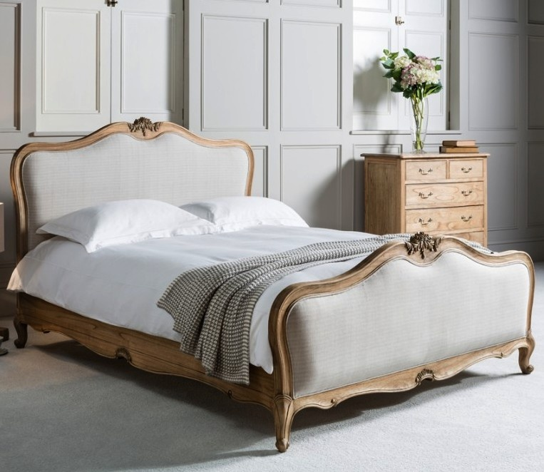 Cama de Casal Chic Weathered Natural