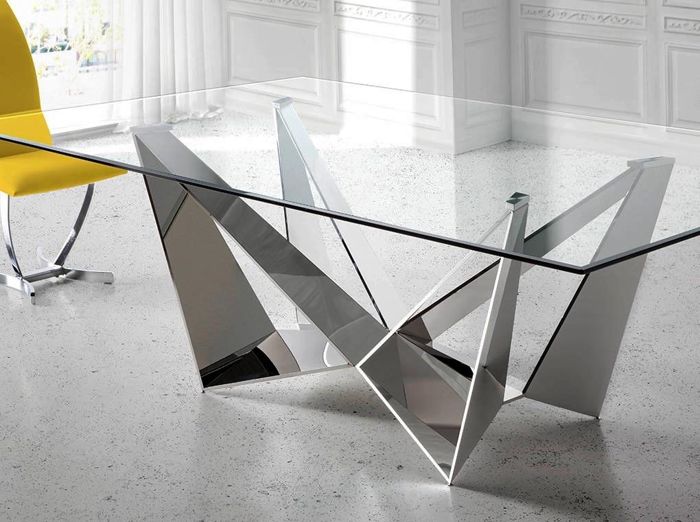 Mesa de Vidro Glass Reto