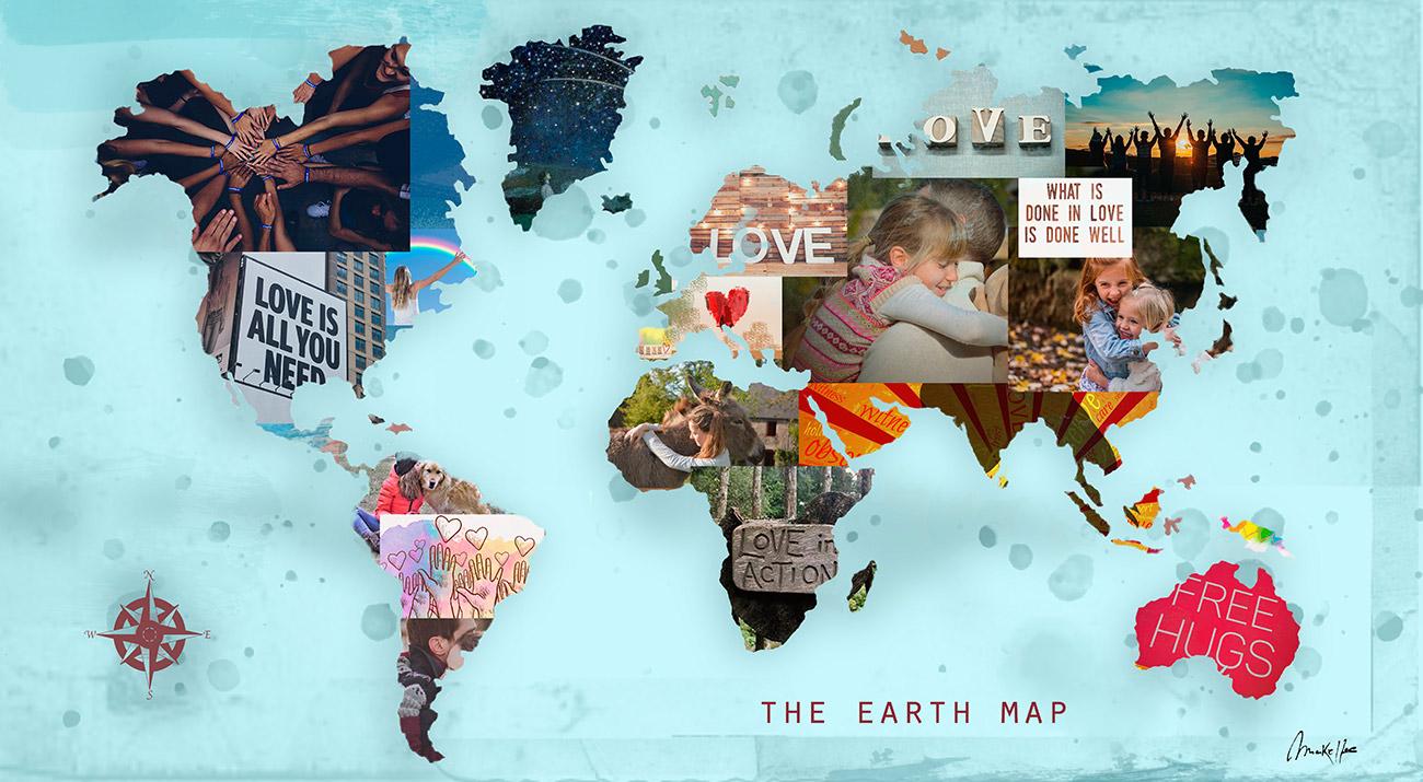 Amo a pintura do mapa mundial