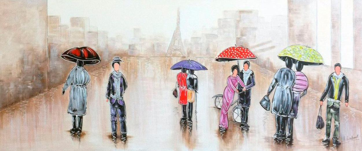 Pintura de passeio pela cidade
