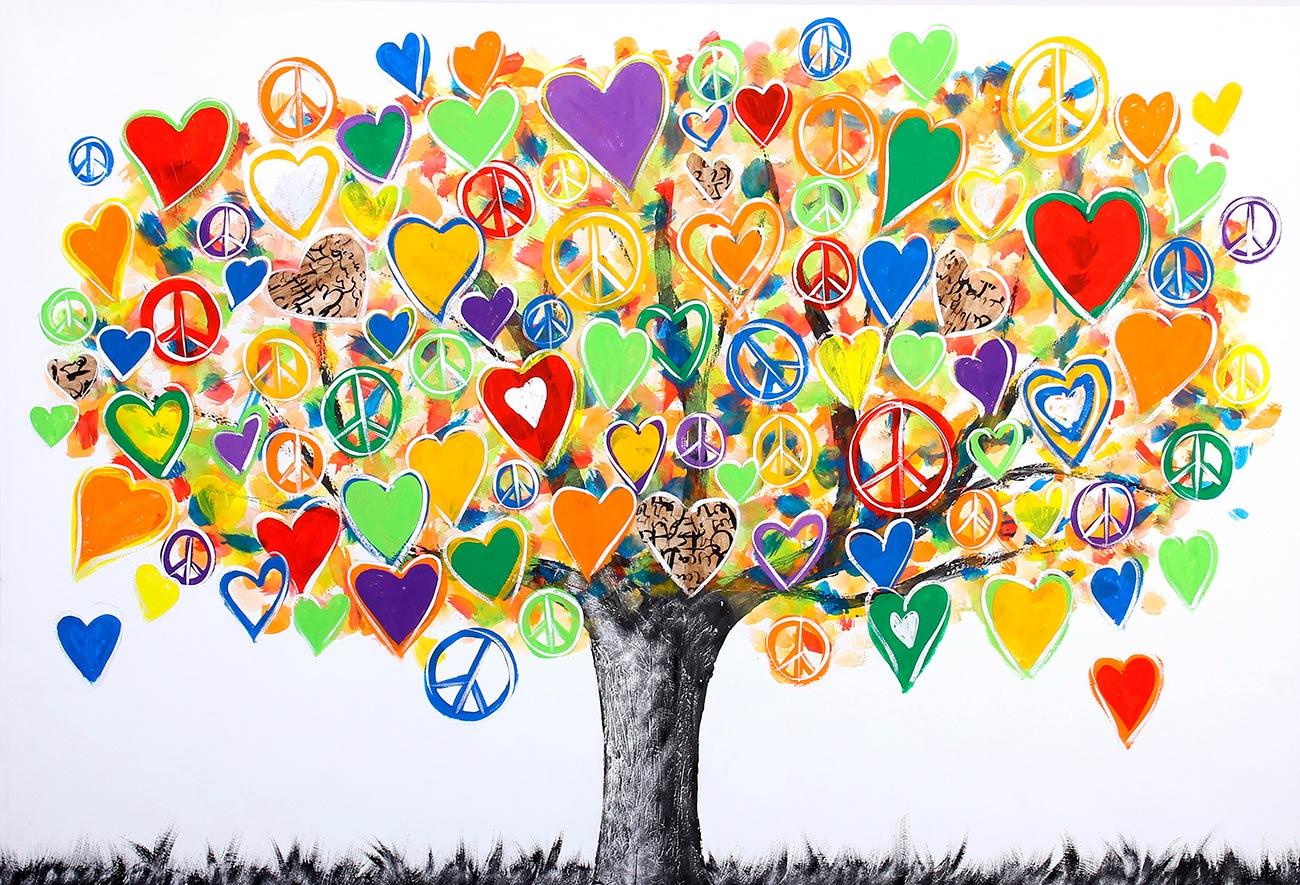 Árvore do amor pintado