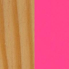 Pinho+ MDF / Pinho mel+ Rosa Choque