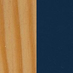 Pinho+ MDF / Pinho mel+ Azul escuro