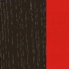 Carvalho/ Wengue+ Lacado Vermelho