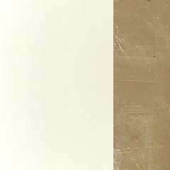 MDF / Lacado Branco + Ouro