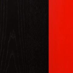 Carvalho + MDF / Wengue Preto + Lacado Vermelho