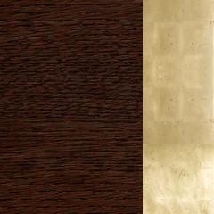 Carvalho+MDF / Cor Chocolate+Dourado
