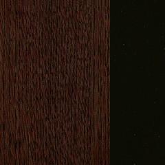 Carvalho+Vidro/ Cor Chocolate+Preto