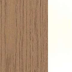 Carvalho+MDF / Cor Natural+Lacado Branco