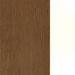 Carvalho+MDF / Cor Taupe+Lacado Branco