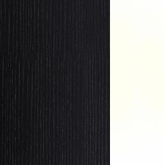 Carvalho+MDF / Cor Preto+Lacado Branco Brilho