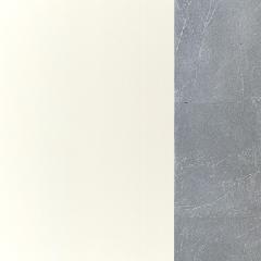 MDF / Lacado Branco + Prata
