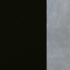 MDF / Lacado Preto + Prata