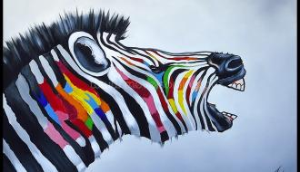 Quadro Beautiful Zebra
