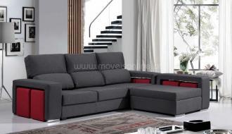 Sofa Chaise Longue 6 Puffs Sevilha