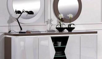 Aparador com LED e Espelhos Viana