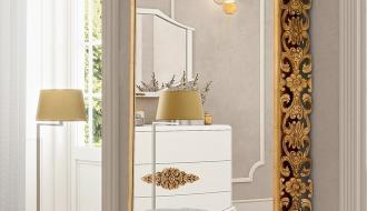 Banqueta Com Espelho Monaco